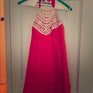 Lilly Pulitzer halter dress in coral size 0